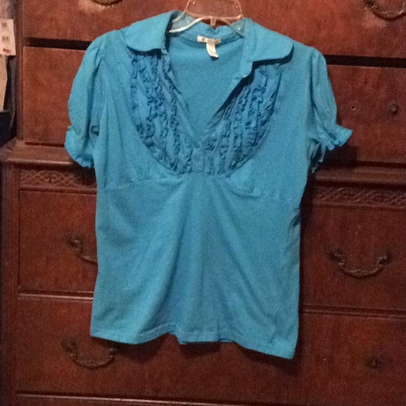 Tops - Turquoise Blouse size extra-large